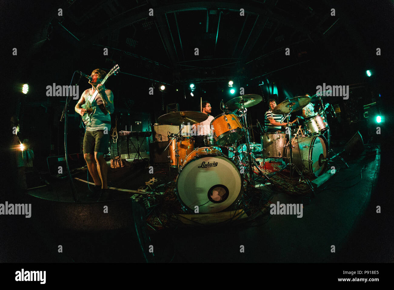 Cambridge, UK. 13th July 2018. The Oh Sees live at The Junction, Cambridge, UK. Richard Etteridge / Alamy Live News - Stock Image