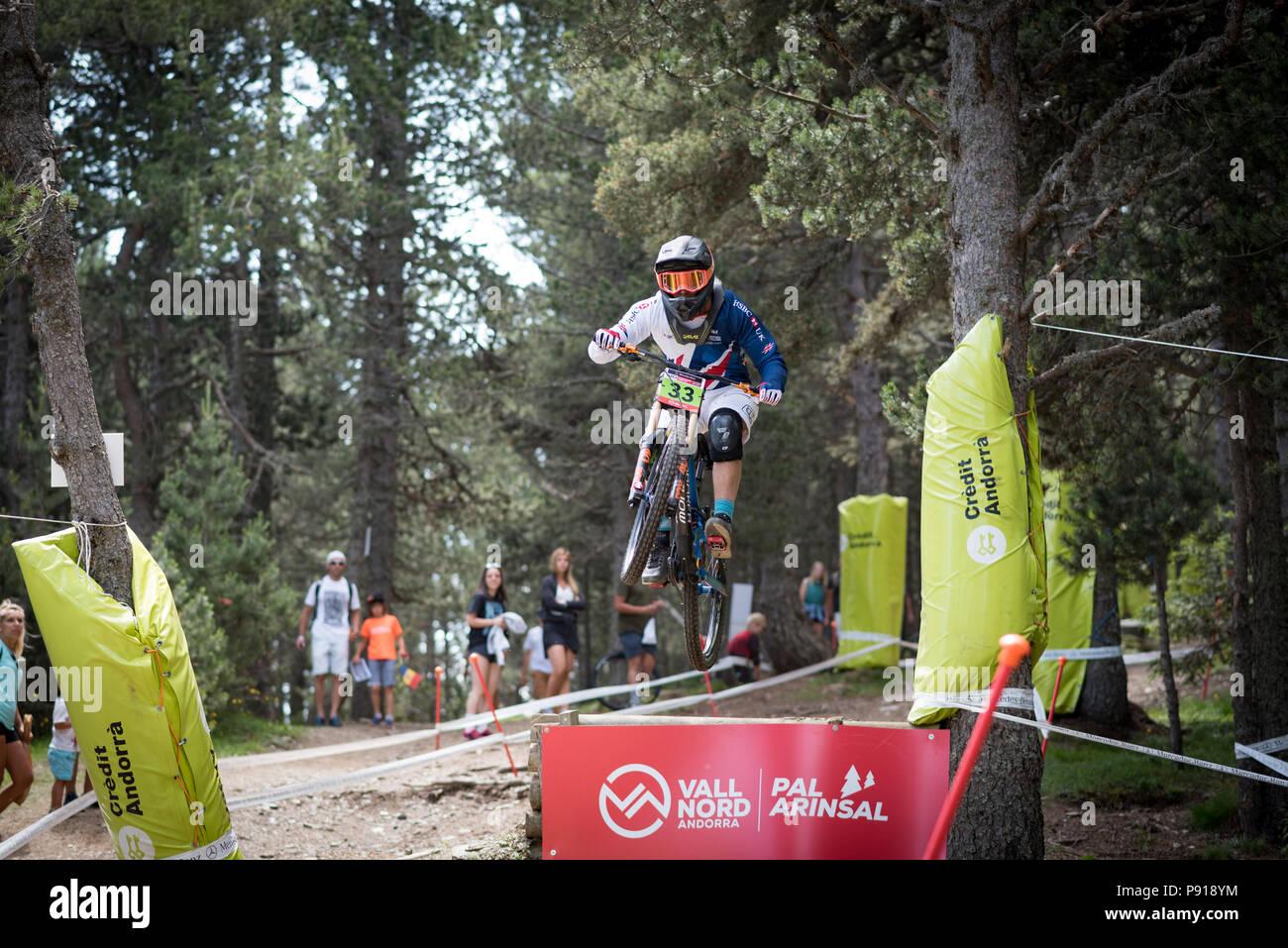 Vallnord, Andorra, 13 July 2018. 2018 World Cup UCI Vallnord Andorra Credit: Martin Silva Cosentino/Alamy Live News - Stock Image