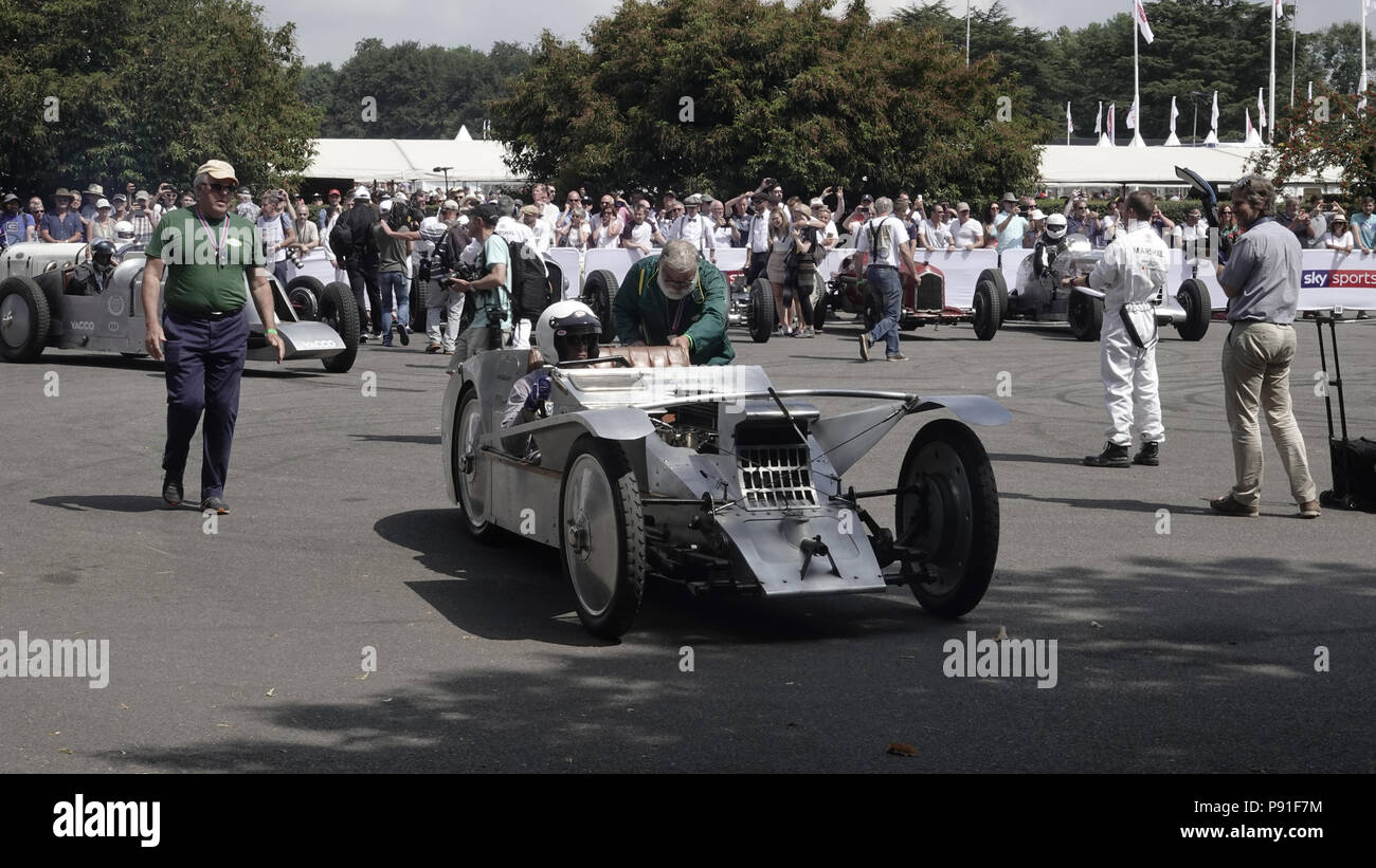 Post WW1 Avions Voisin C6 at the Goodwood Festival of Speed, Goodwood House, home of    the Duke of Richmond and Gordon.  Britain's showcase of everything automobile and fast - Stock Image