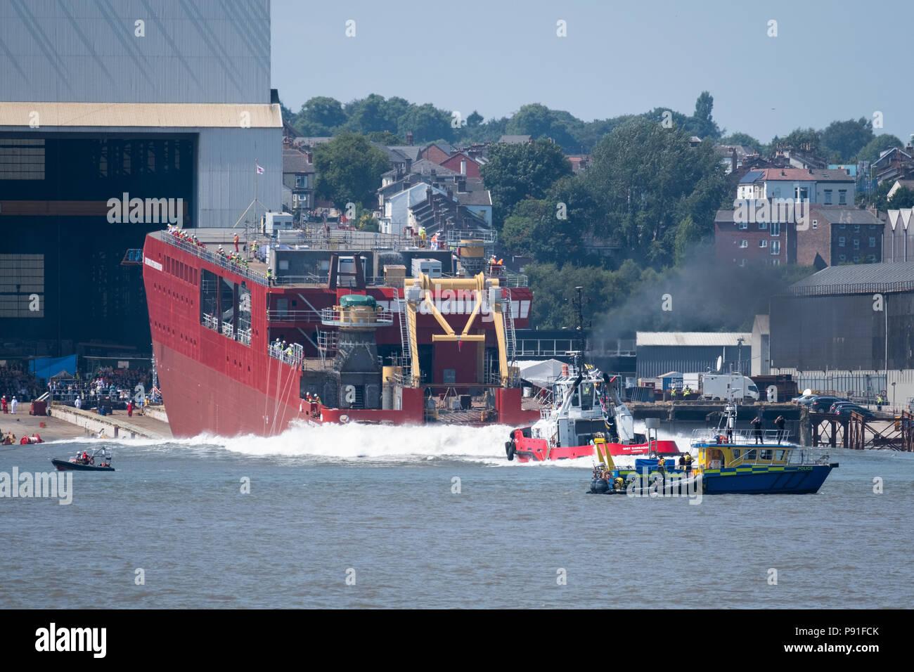 The new polar research ship, RRS Sir David Attenborough, the