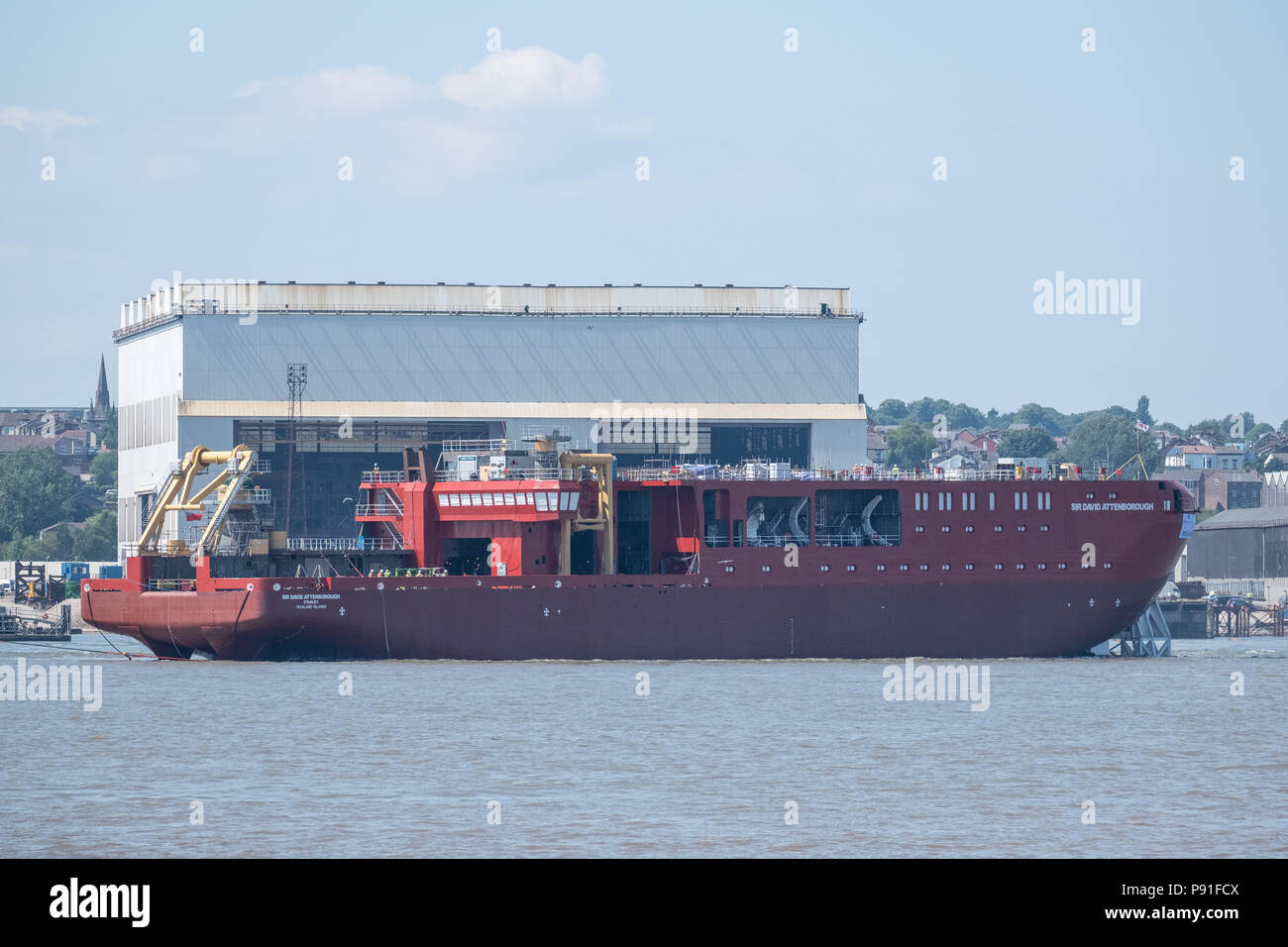 The new polar research ship, RRS Sir David Attenborough, the biggest
