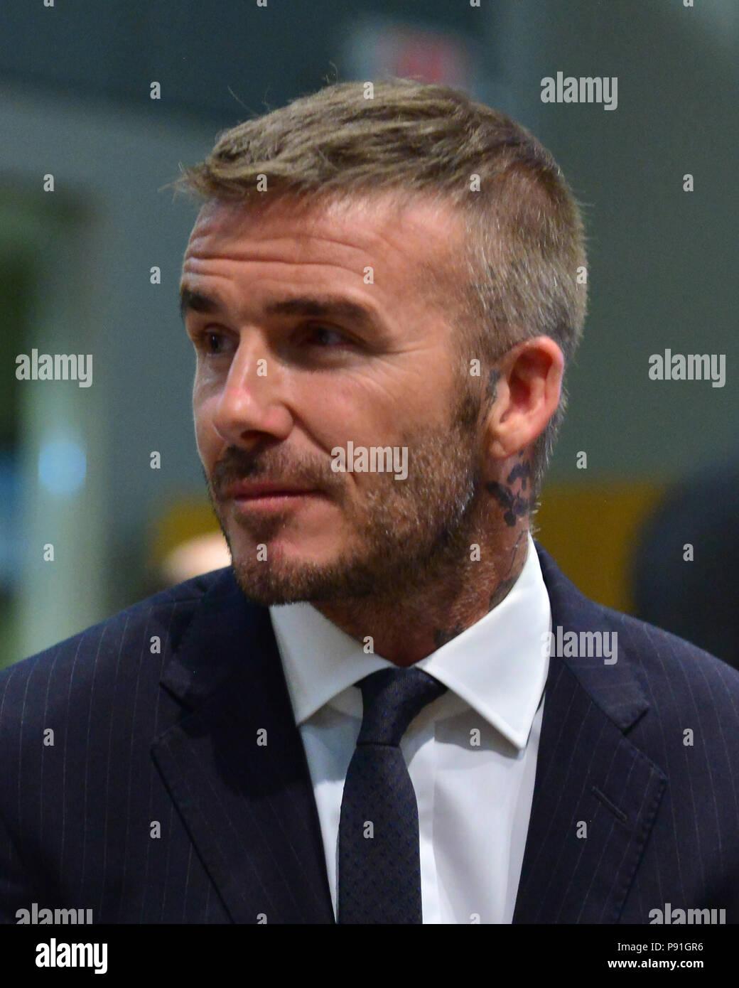 Miami Florida Usa 12th July 2018 David Beckham Attends A