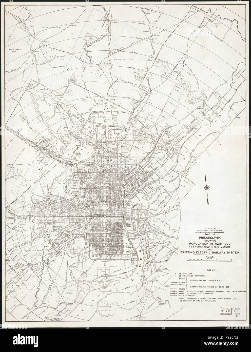 Us Map 1920.410 Map Of Philadelphia Showing Population In Year 1920 As