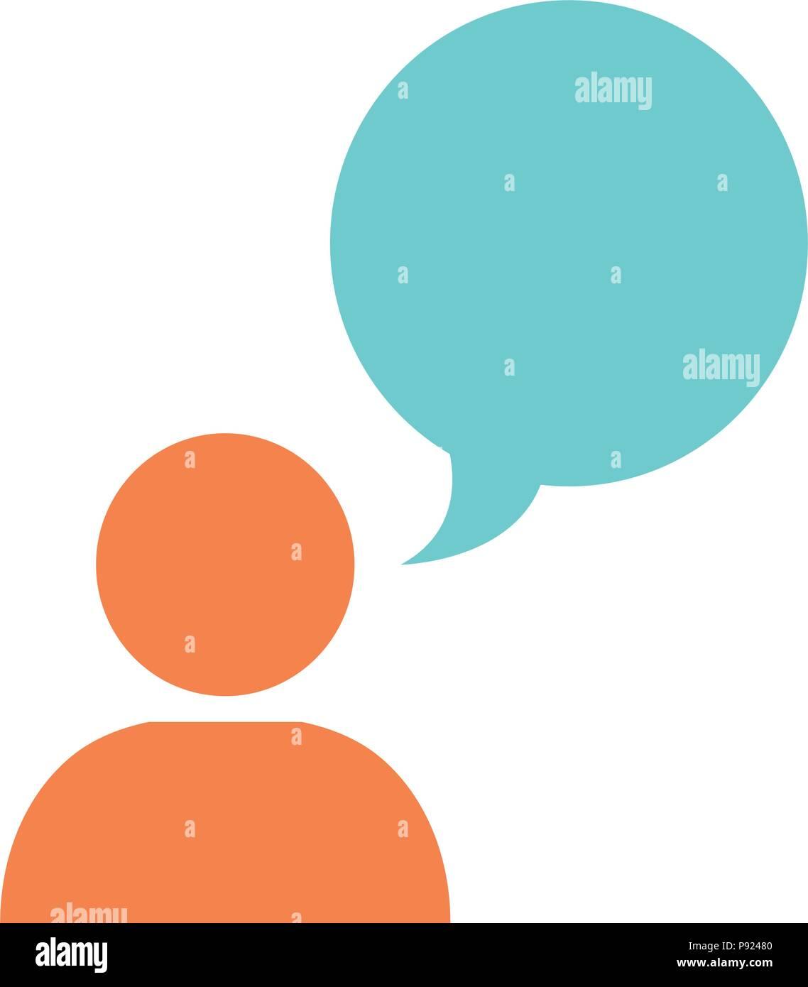 Intercommunication Stock Photos Images Intercom Circuit User Silhouette With Speech Bubble Image