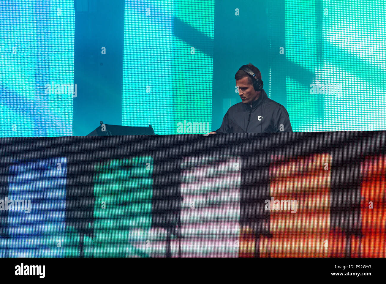 Performances at Fvded in the Park at Holland Park in Surreyin BC on July 7th, 2018 - Stock Image