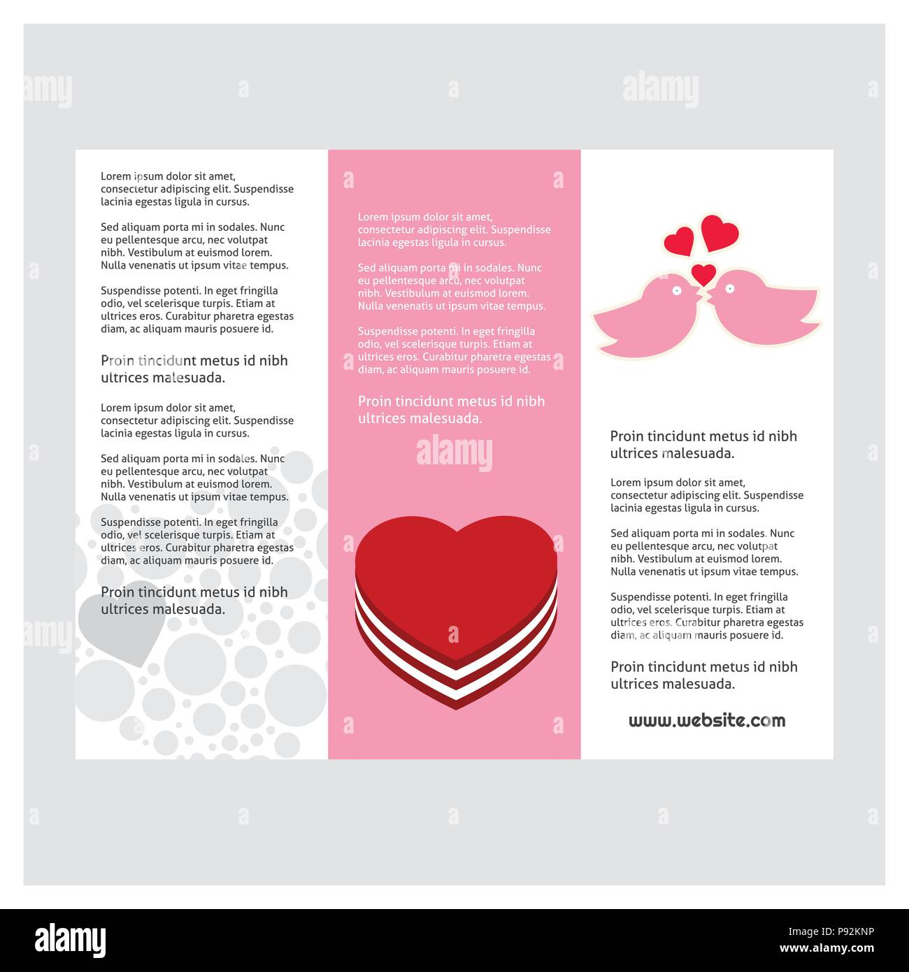Valentines Day Greetings Card For Web Design And Application