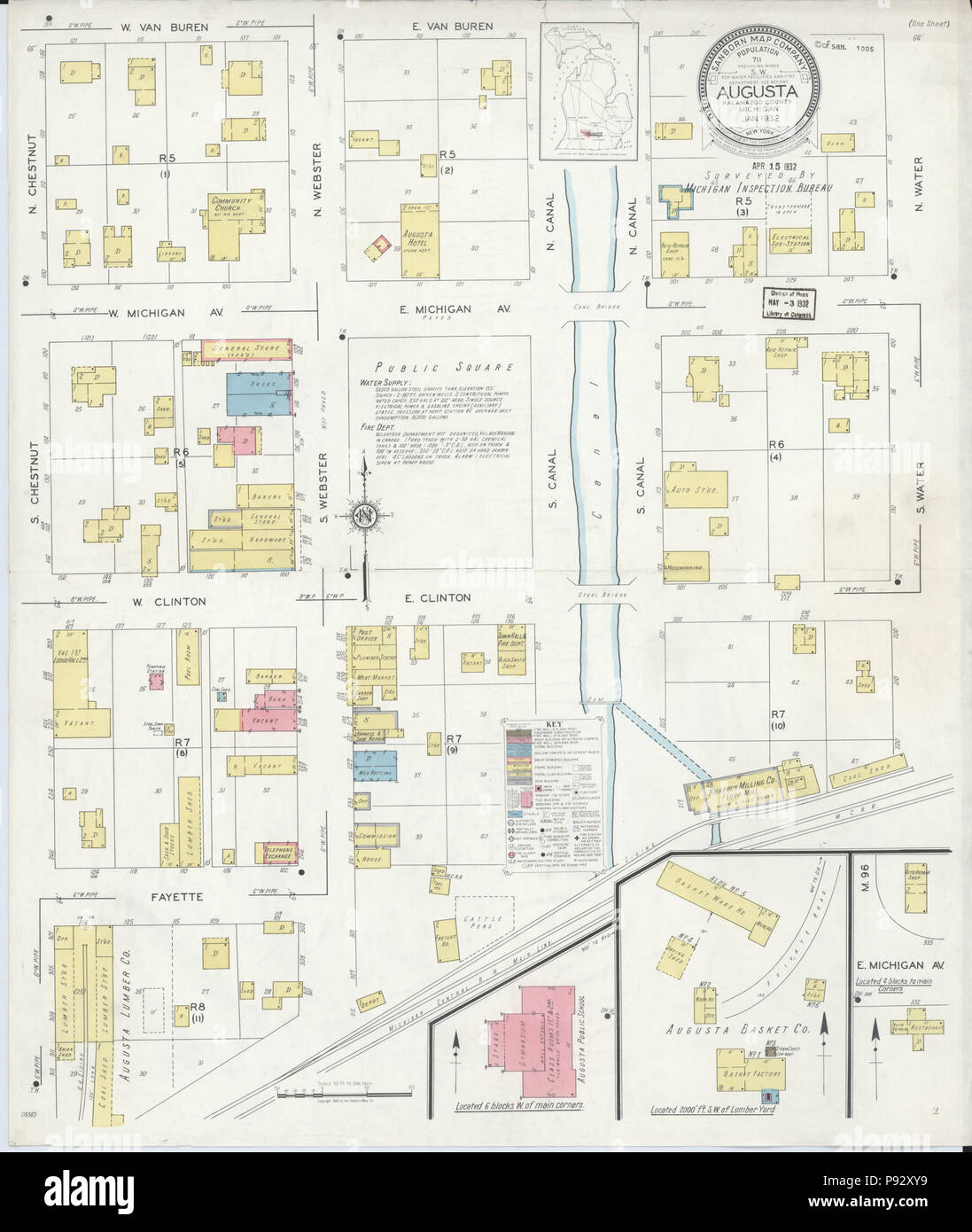 491 Sanborn Fire Insurance Map from Augusta, Kalamazoo County ... on stewart county map, livonia county map, cooper township map, chillicothe county map, kalamazoo gis maps, joliet county map, kent county map, harrisburg pa county map, eugene county map, east idaho county map, akron county map, grand rapids county map, wayne county map, michigan map, springfield il county map, ottawa county map, sioux city county map, roosevelt county map, little rock county map, sedona county map,