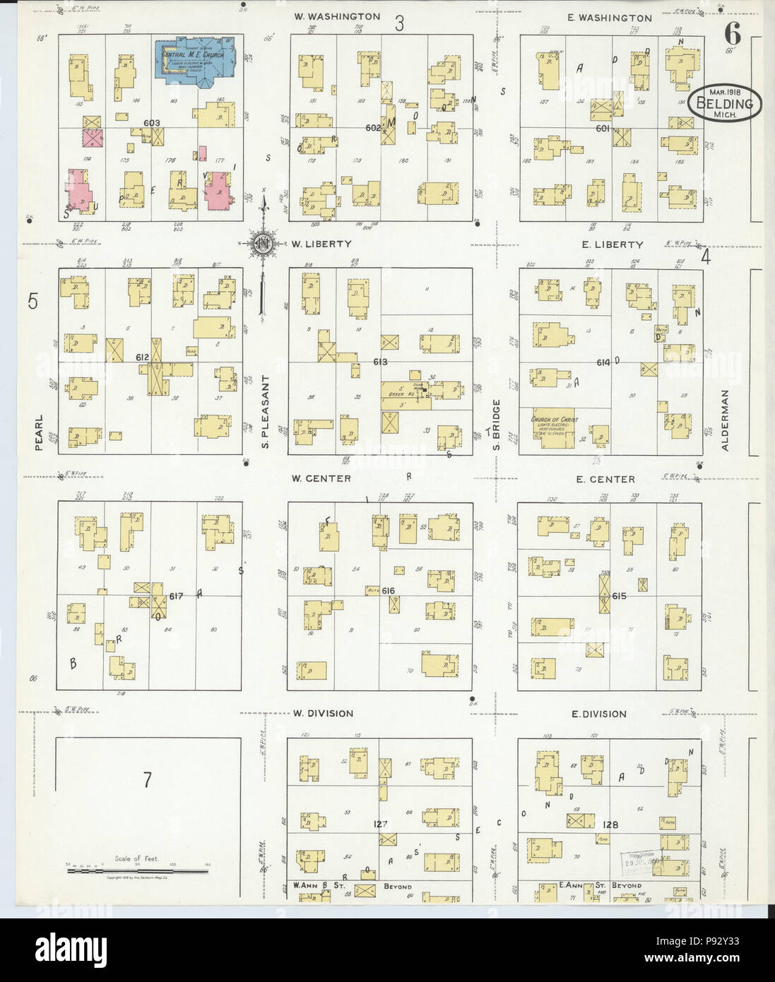 492 Sanborn Fire Insurance Map From Belding Montcalm County