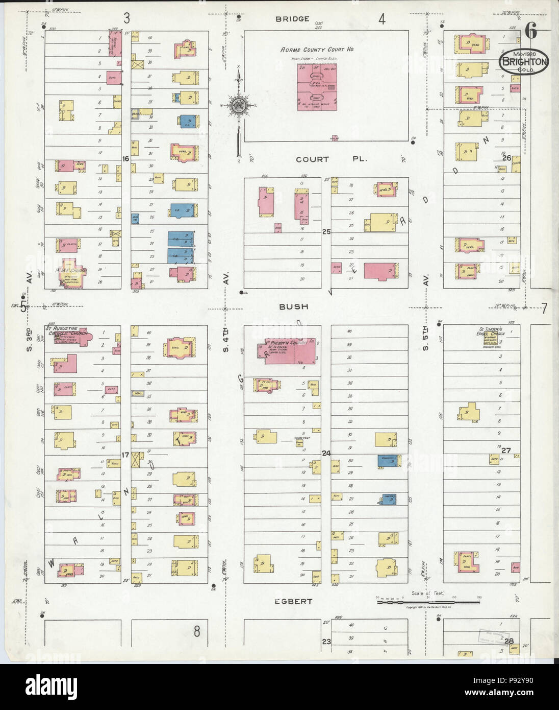 493 Sanborn Fire Insurance Map From Brighton Adams County Colorado