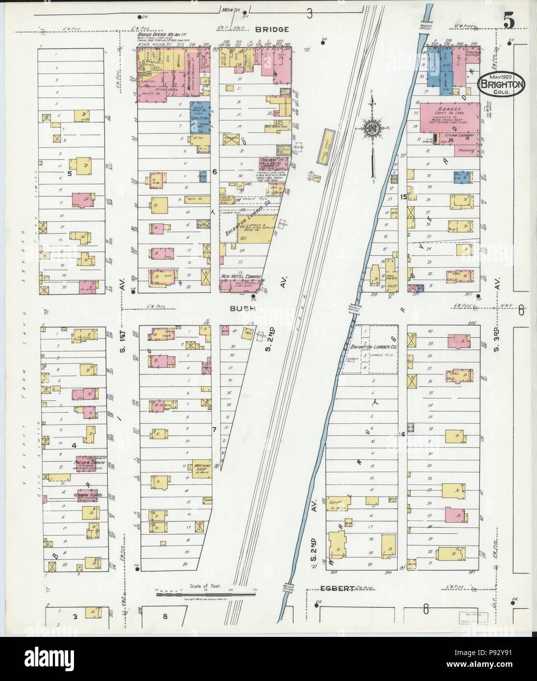 Brighton Colorado Map.493 Sanborn Fire Insurance Map From Brighton Adams County Colorado