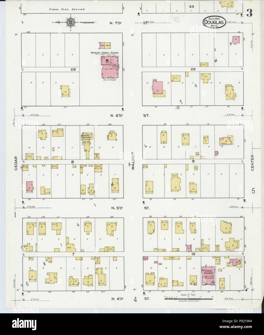 496 Sanborn Fire Insurance Map From Douglas Converse County