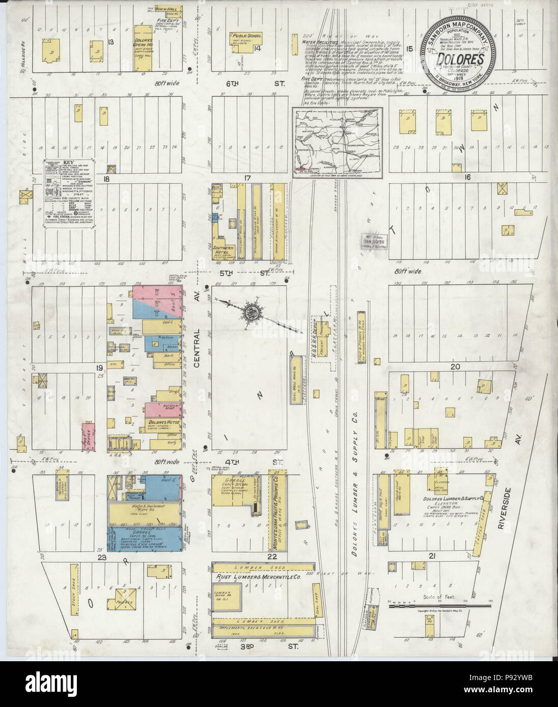 496 Sanborn Fire Insurance Map From Dolores Montezuma County