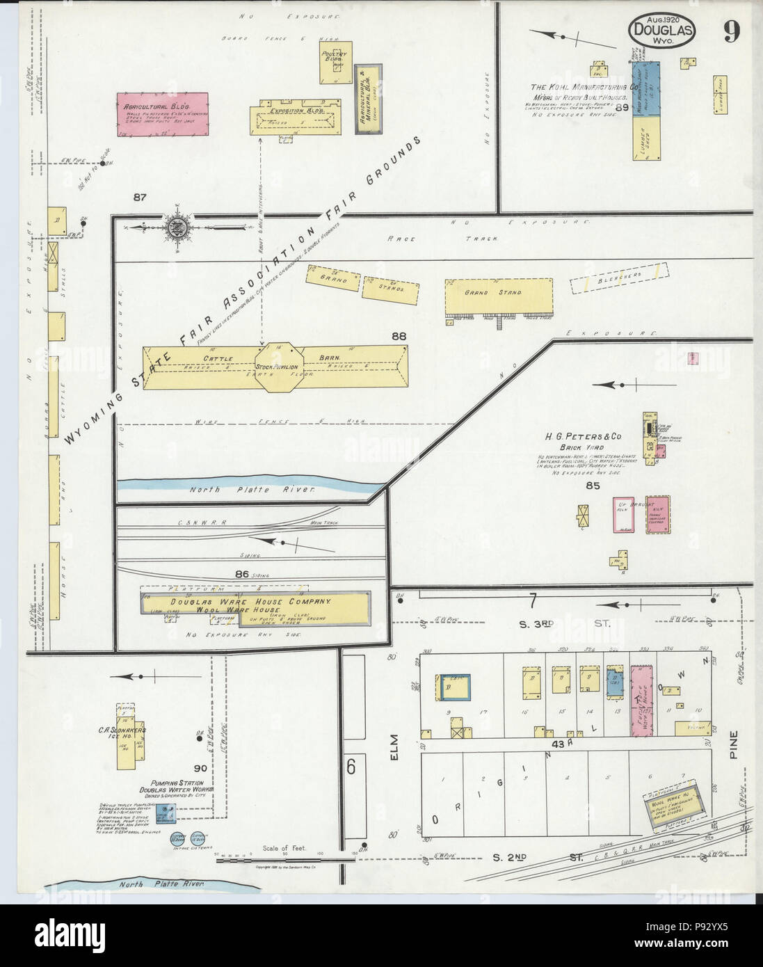 497 Sanborn Fire Insurance Map From Douglas Converse County