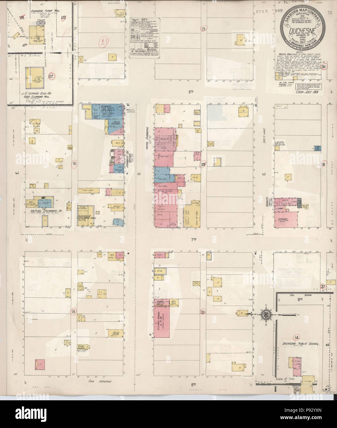 County Utah Map.497 Sanborn Fire Insurance Map From Duchesne Duchesne County Utah