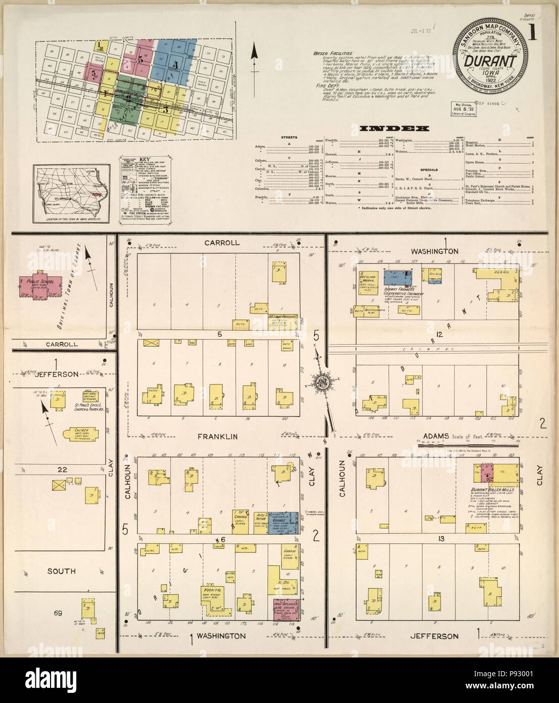 Map 002 Stock Photos Images Page 2 Alamy Durant Wiring Diagram 497 Sanborn Fire Insurance From Cedar County Iowa Loc Sanborn02636