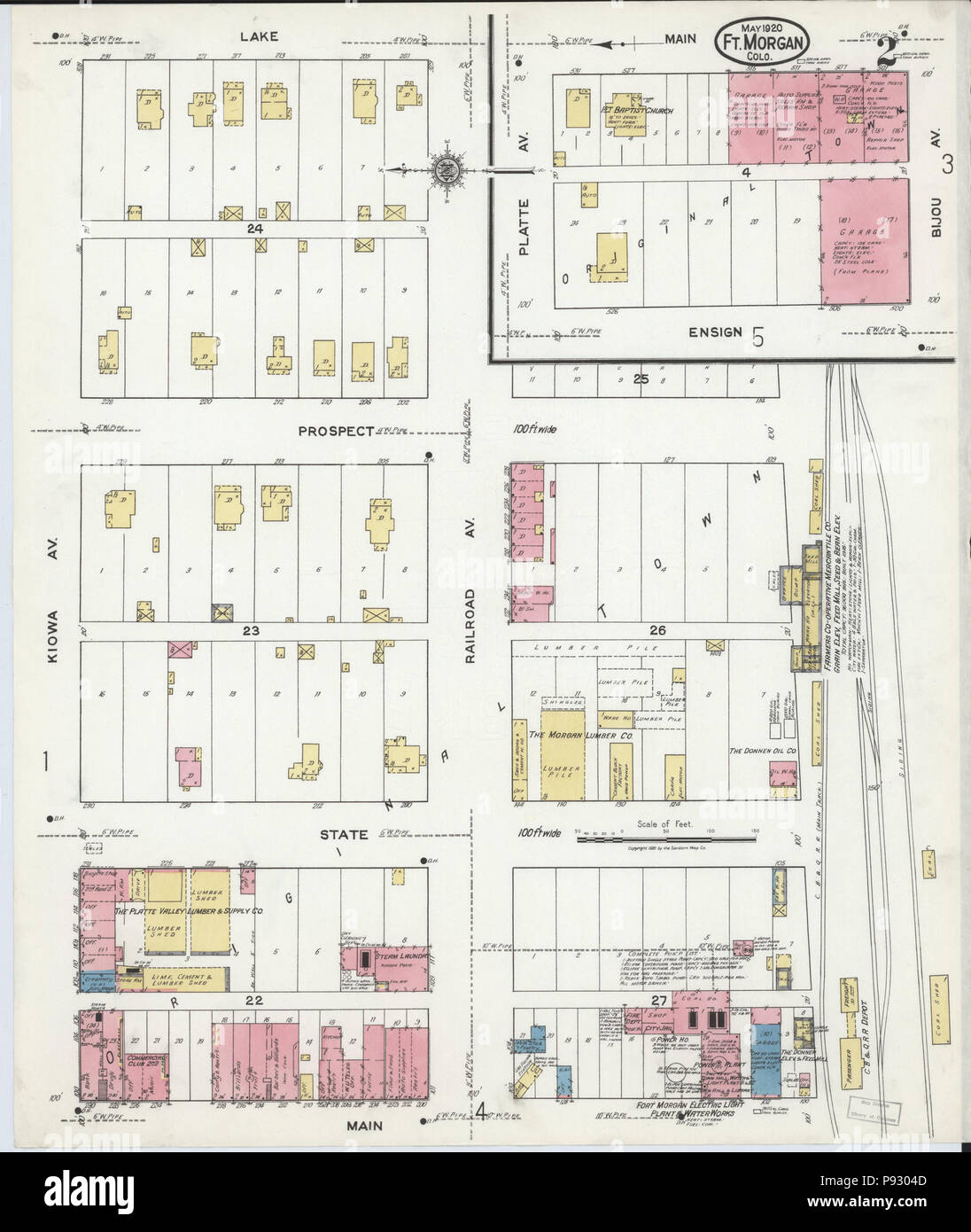 Fort Morgan Colorado Map.498 Sanborn Fire Insurance Map From Fort Morgan Morgan County