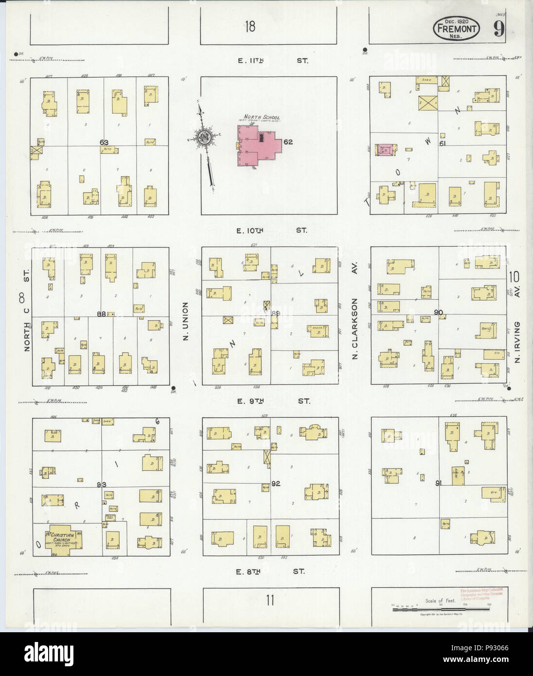 498 Sanborn Fire Insurance Map From Fremont Dodge County Nebraska