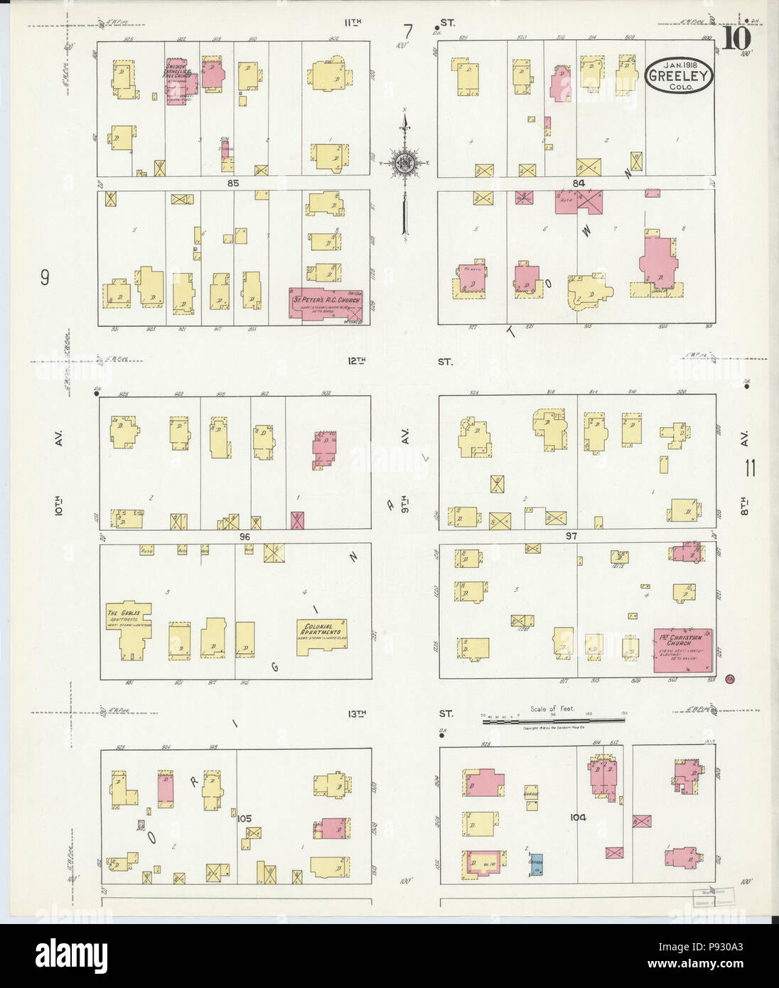 499 Sanborn Fire Insurance Map From Greeley Weld County Colorado