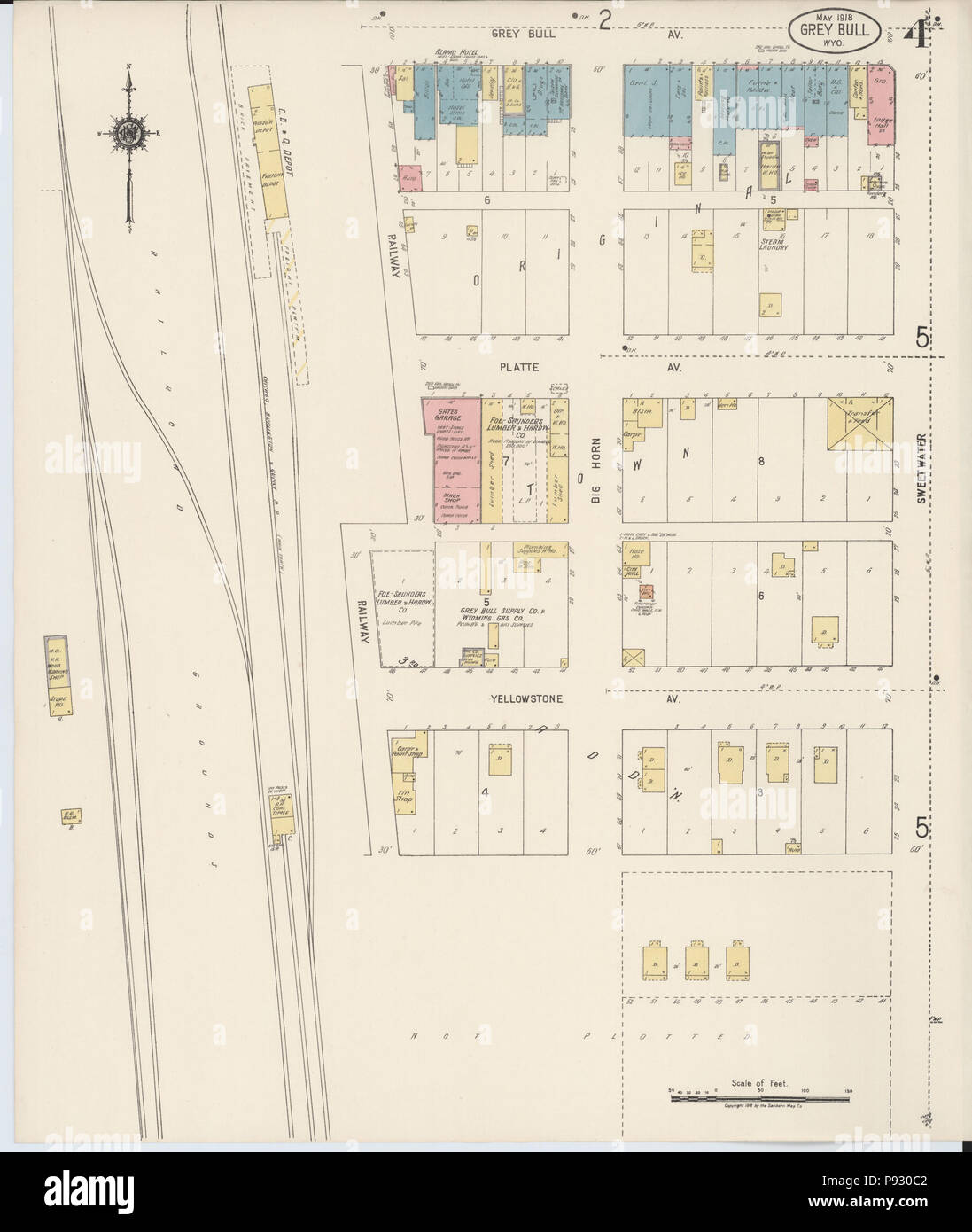 499 Sanborn Fire Insurance Map From Greybull Big Horn County