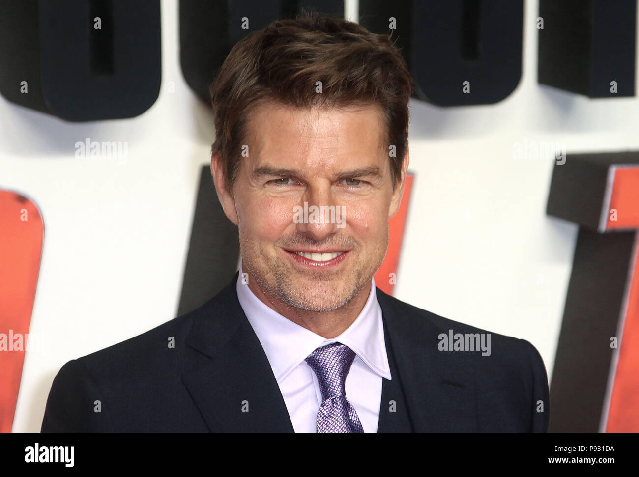 Jul 13, 2018  - Tom Cruise attending 'Mission Impossible - Fallout' UK Premiere at BFI IMAX in London, England, UK Stock Photo
