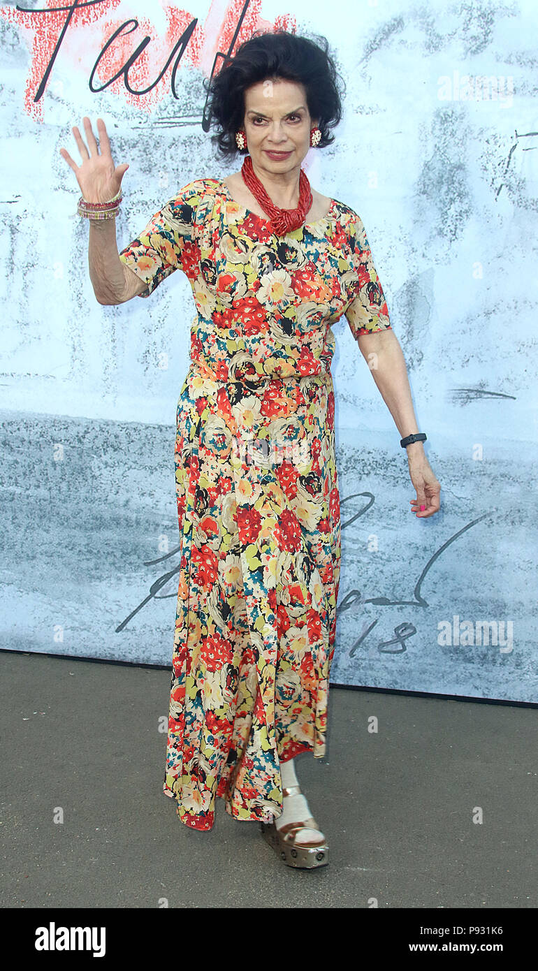 Jun 19, 2018  - Bianca Jagger attending Serpentine Summer Party 2018 at The Serpentine Gallery in London, England, UK - Stock Image