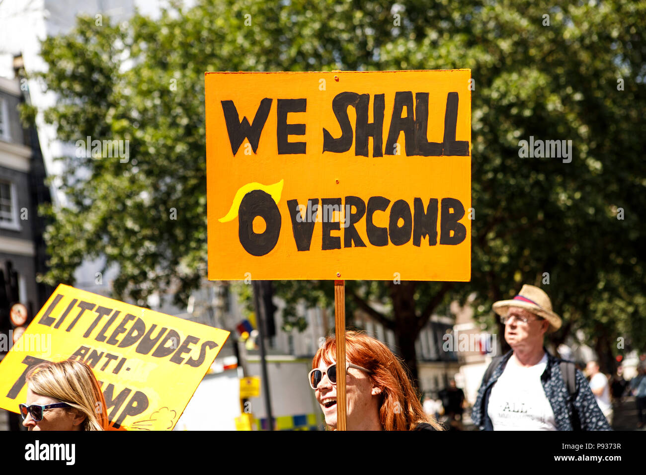 Stop Trump Demo London 13 July 2018 Stock Photo