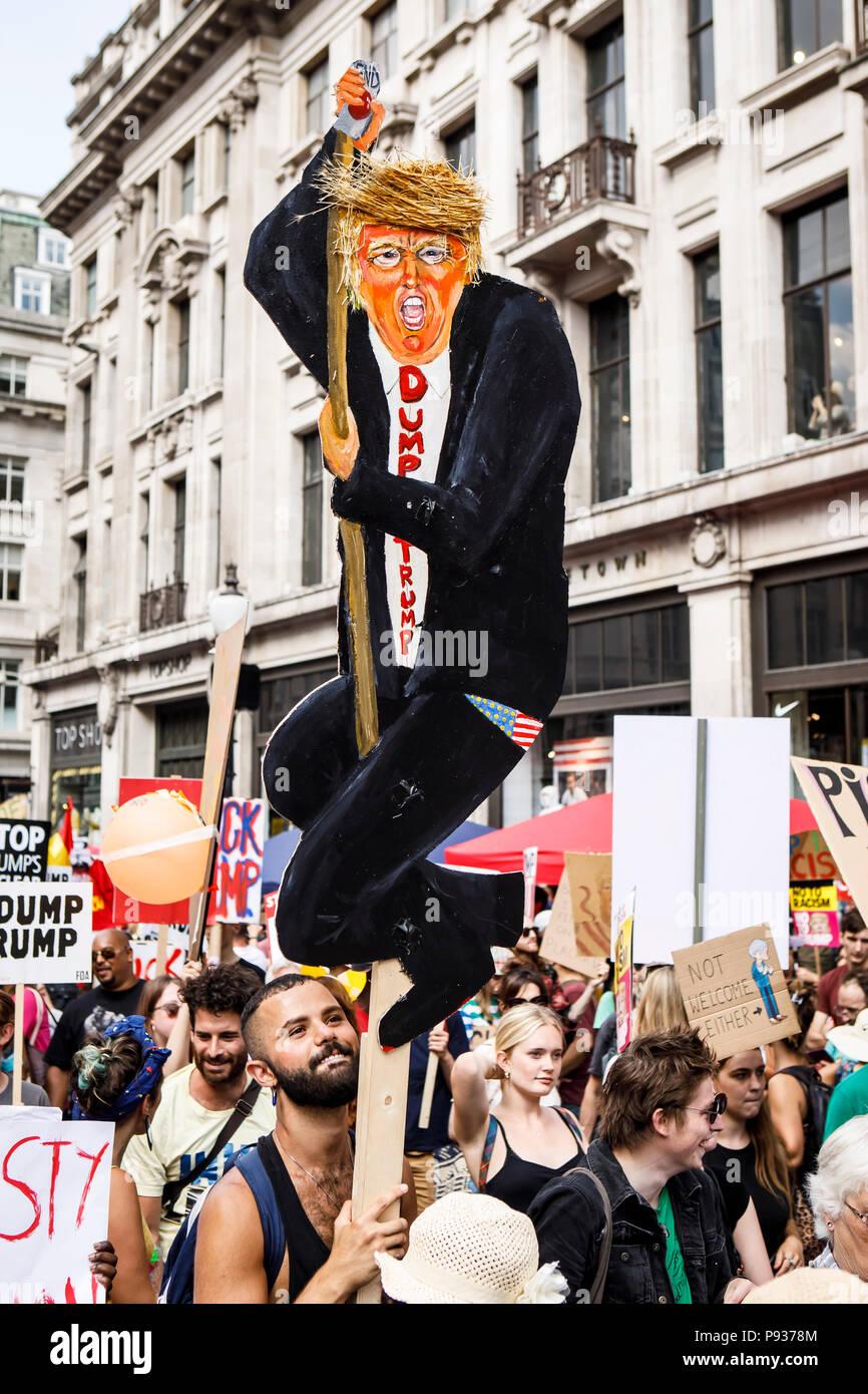 Stop Trump Demo London 13 July 2018 Stock Photo