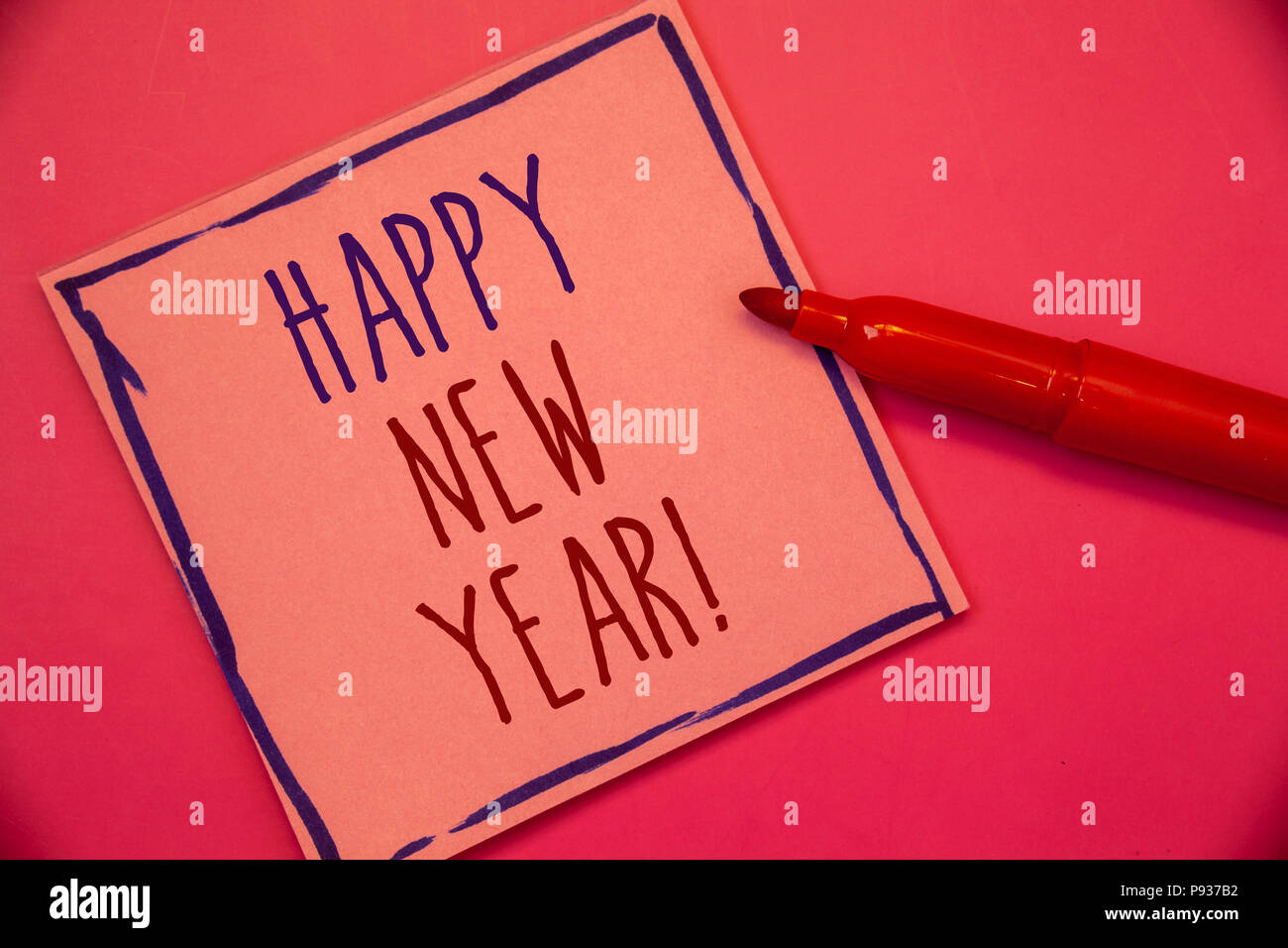 Writing Note Showing Happy New Year Motivational Call Business