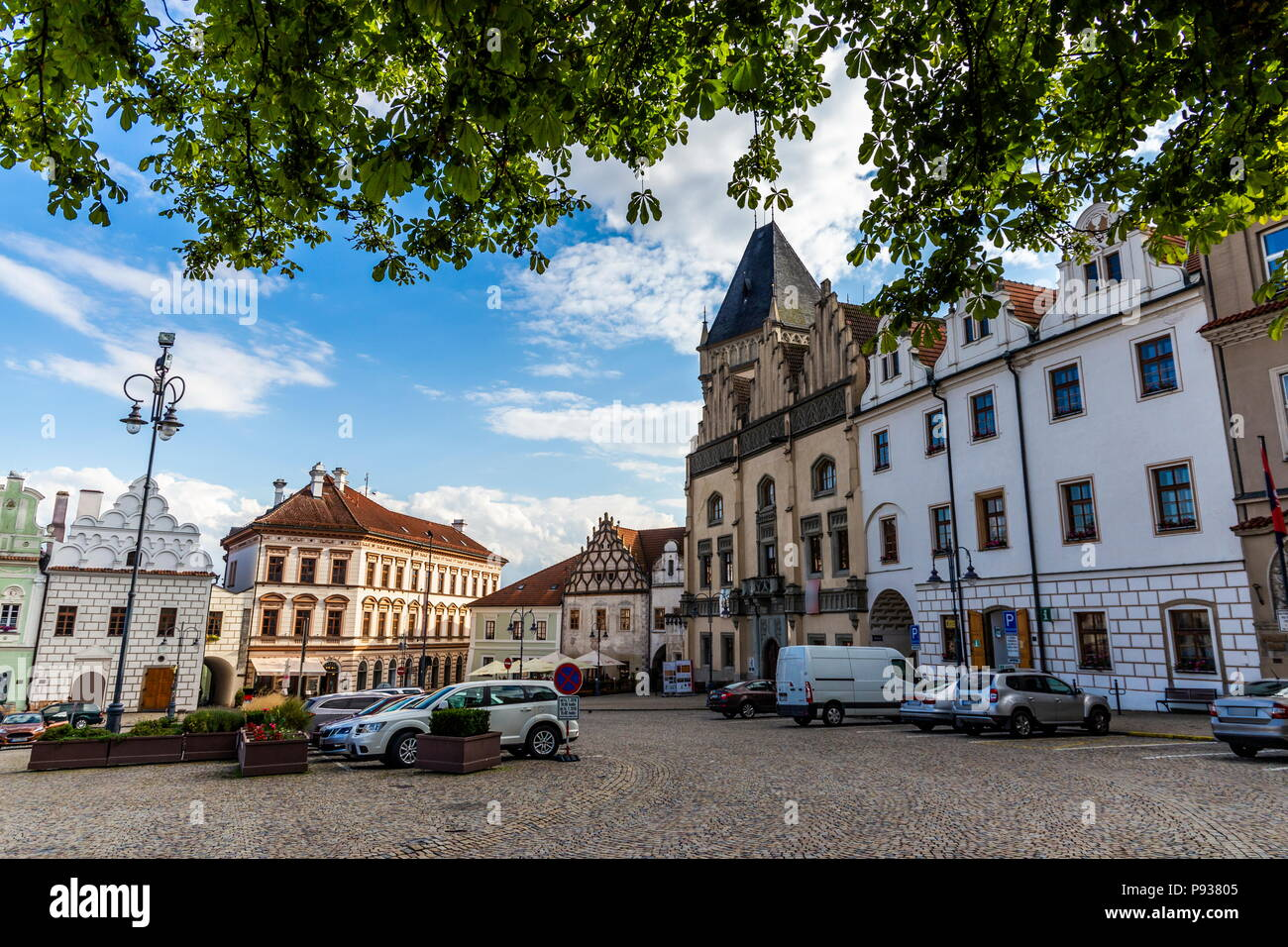Tabor is a small town in South Bohemian region, Czech republic. - Stock Image