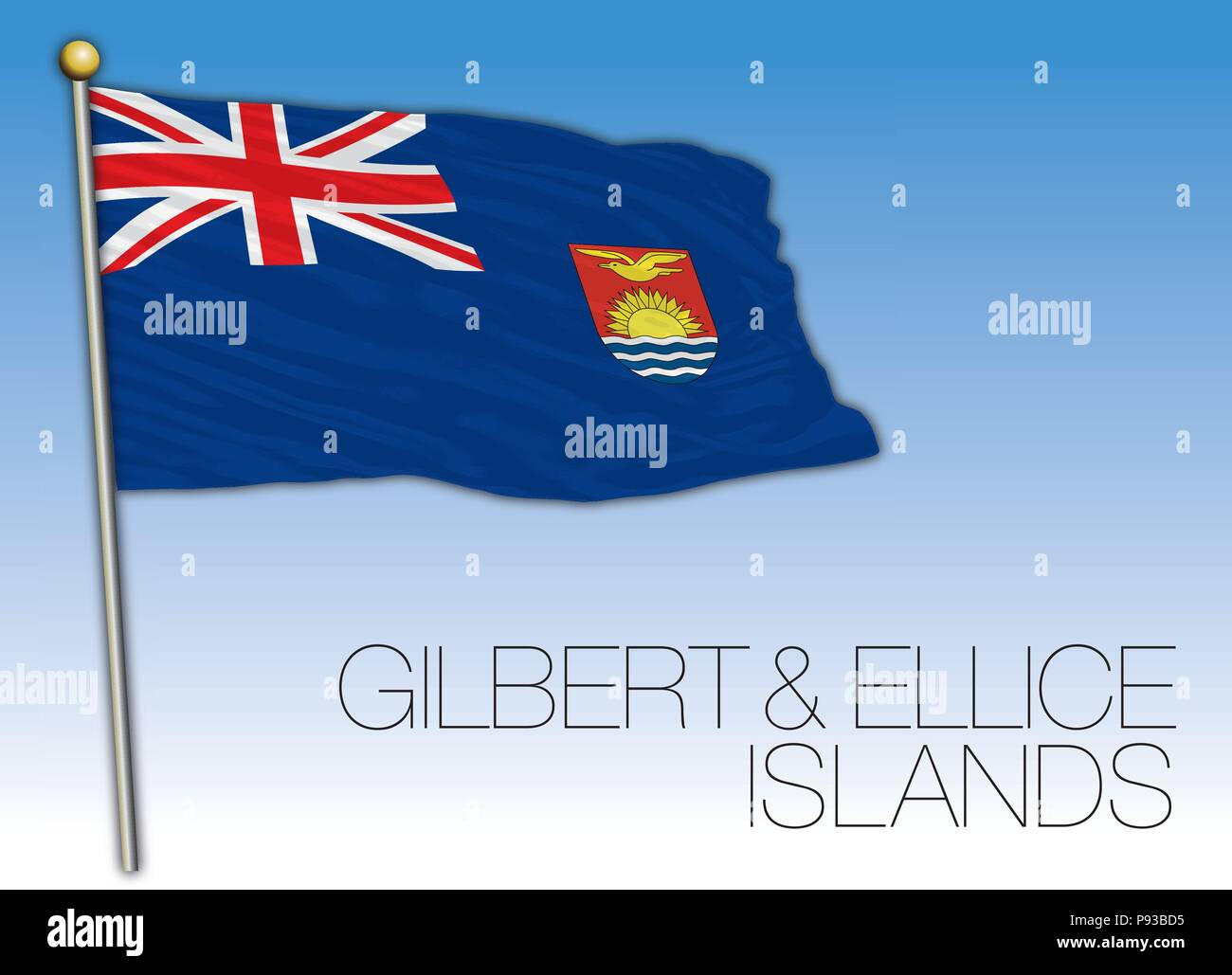 Gilbert and Ellice islands flag - Stock Image