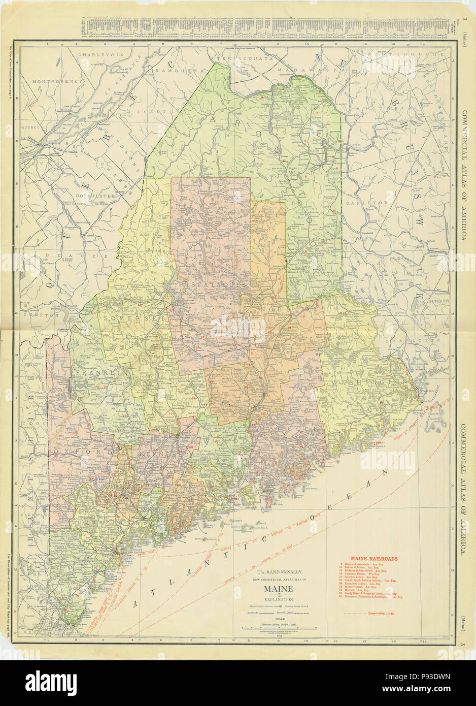 Maine State Map Stock Photos Maine State Map Stock Images Alamy