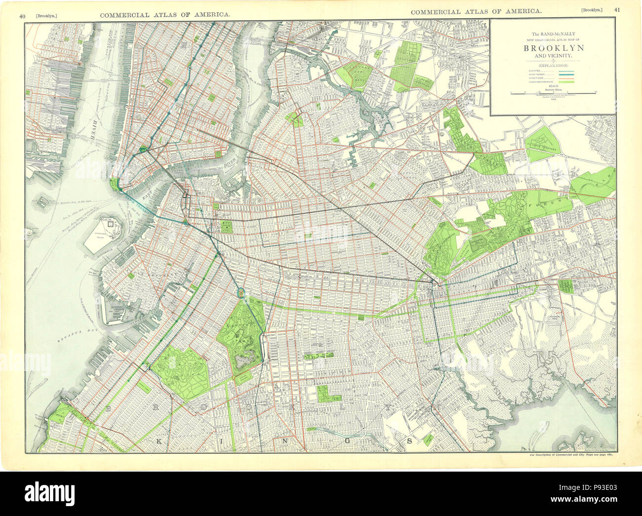 1912-1913 Brooklyn map Stock Photo: 212133155 - Alamy