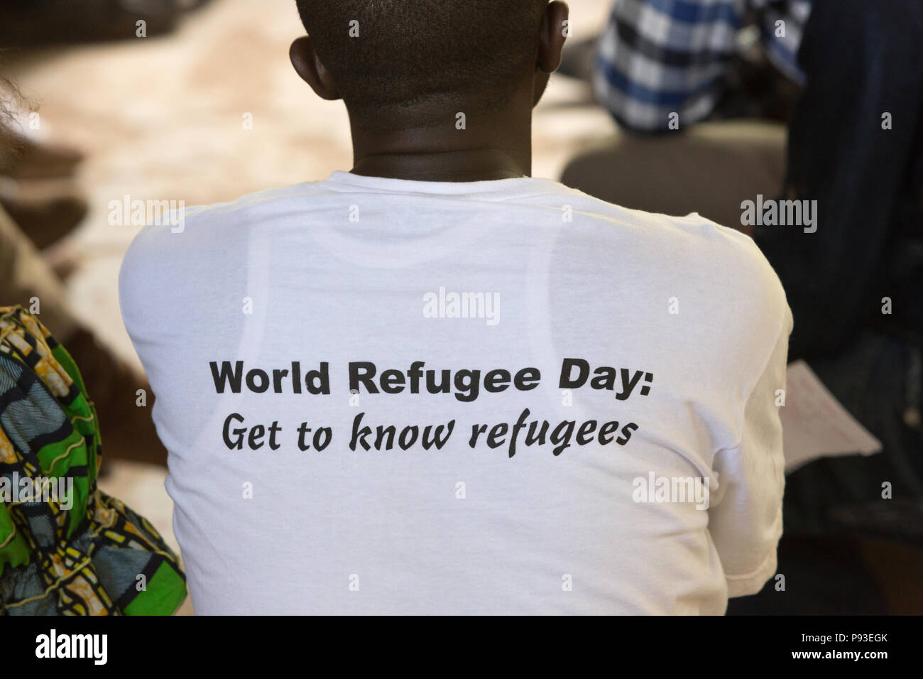 Kakuma, Kenya - Meeting with Youth Leaders. Contact and contact person for refugee issues selected by young residents of the refugee camp Kakuma. - Stock Image