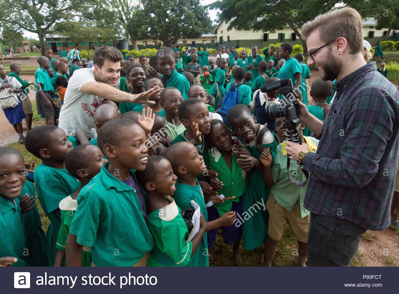 Bombo Uganda Youtuber Florian Gregorzyk Alias Flo Uses His Dslr