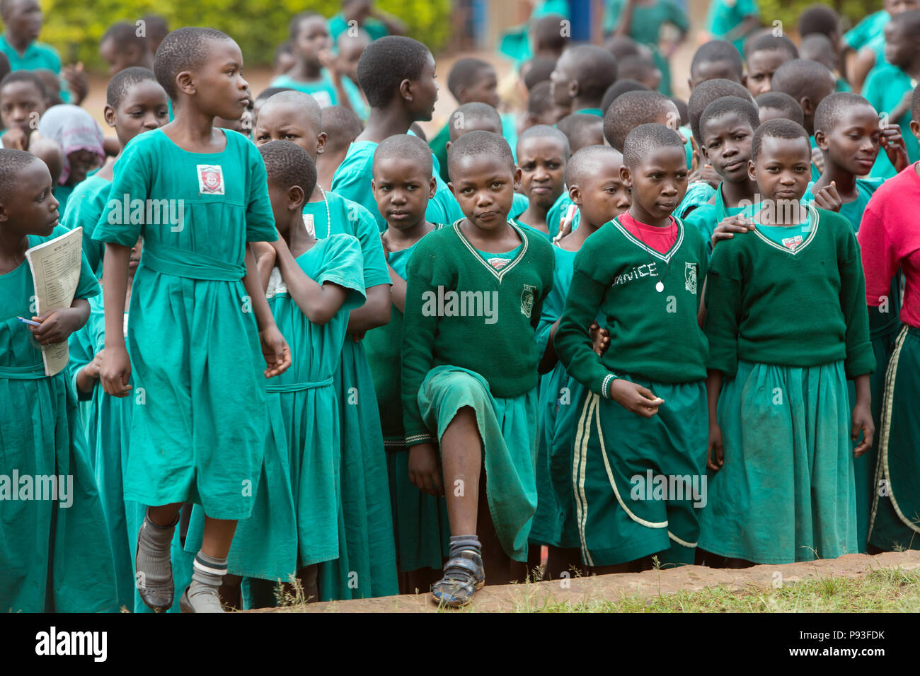 Bombo, Uganda - School appeal in the schoolyard of St. Joseph's Bombo mixed primary school. - Stock Image