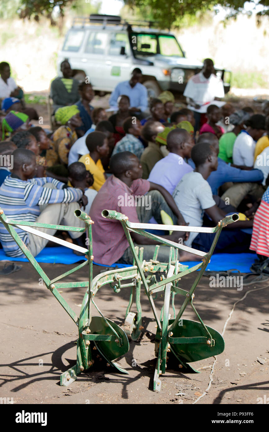 Adjumani, Uganda - National self-help project of the humanitarian aid organization Welthungerhilfe. - Stock Image