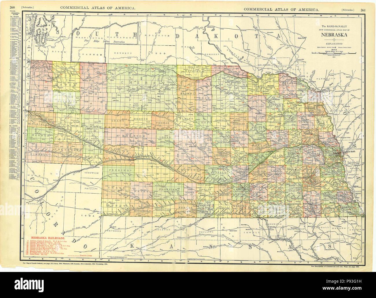 Badlands Nebraska Map.Old Map Of Nebraska Stock Photos Old Map Of Nebraska Stock Images