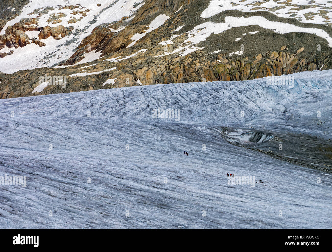 Glacier hikers - Stock Image