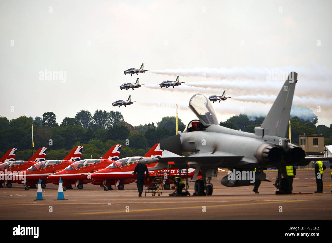 The Royal International Air Tattoo, Horcott Hill, Fairford - Stock Image
