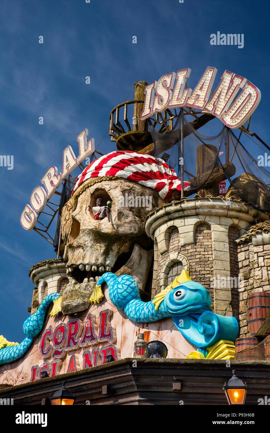 Uk England Lancashire Blackpool Promenade Coral Island Pirate