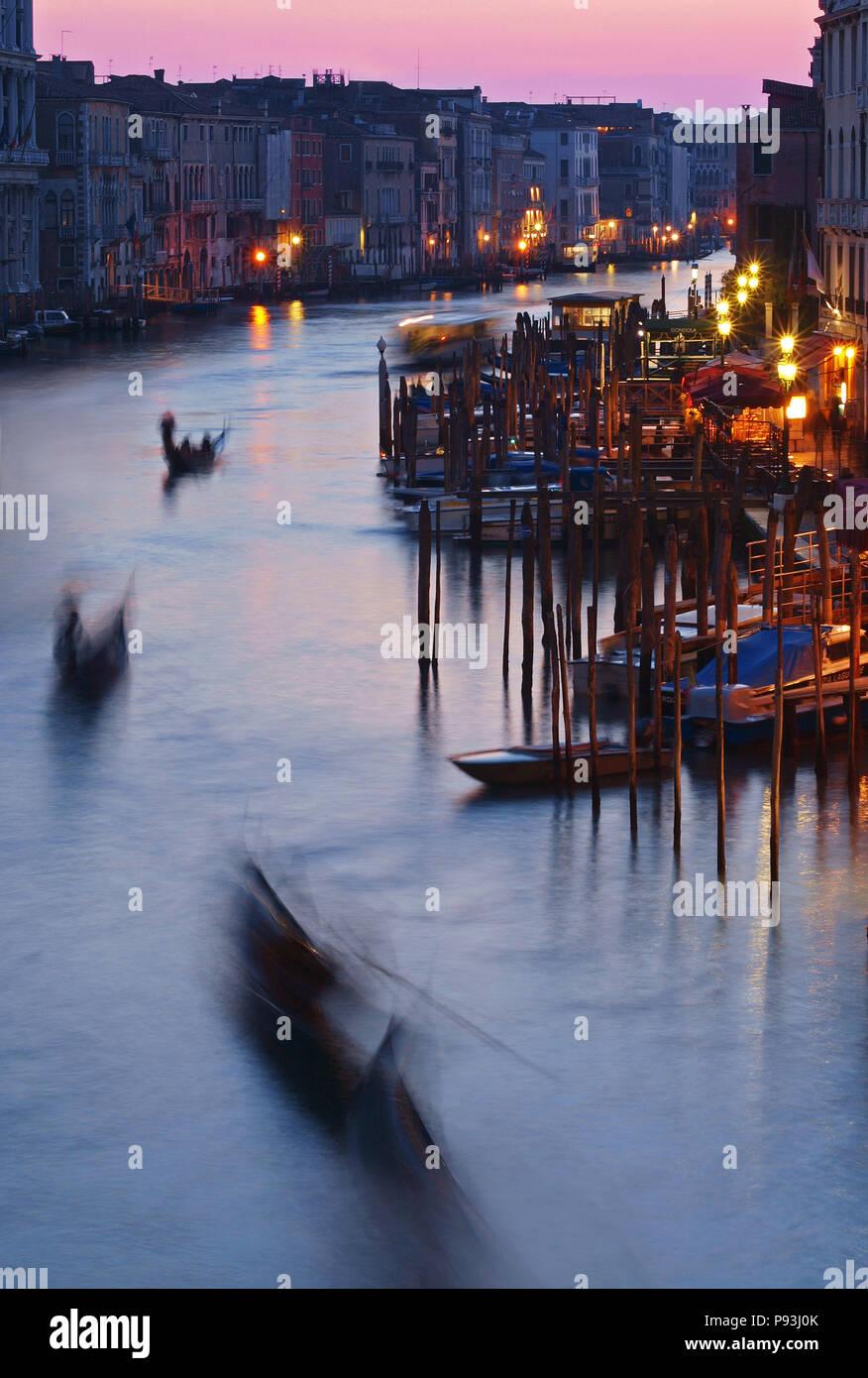 Evening Canal Grande in Venice Stock Photo