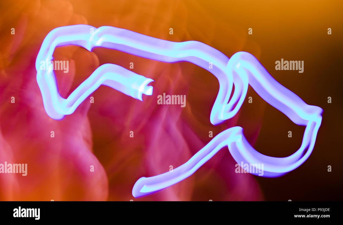 Motion Blur light art vape - Stock Image