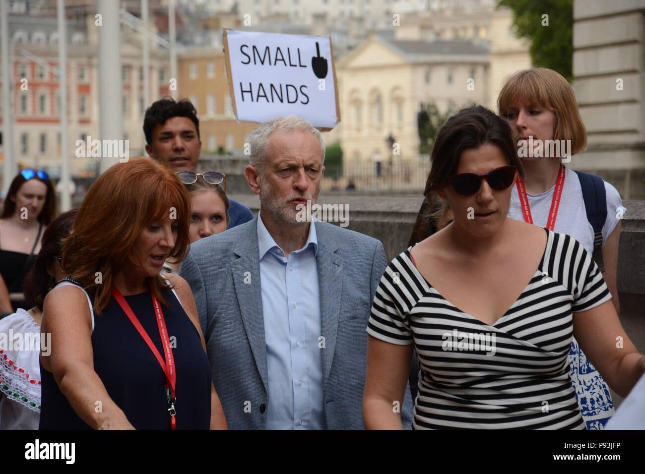 Anti-Trump March in Central London 13th July 2018 Stock Photo