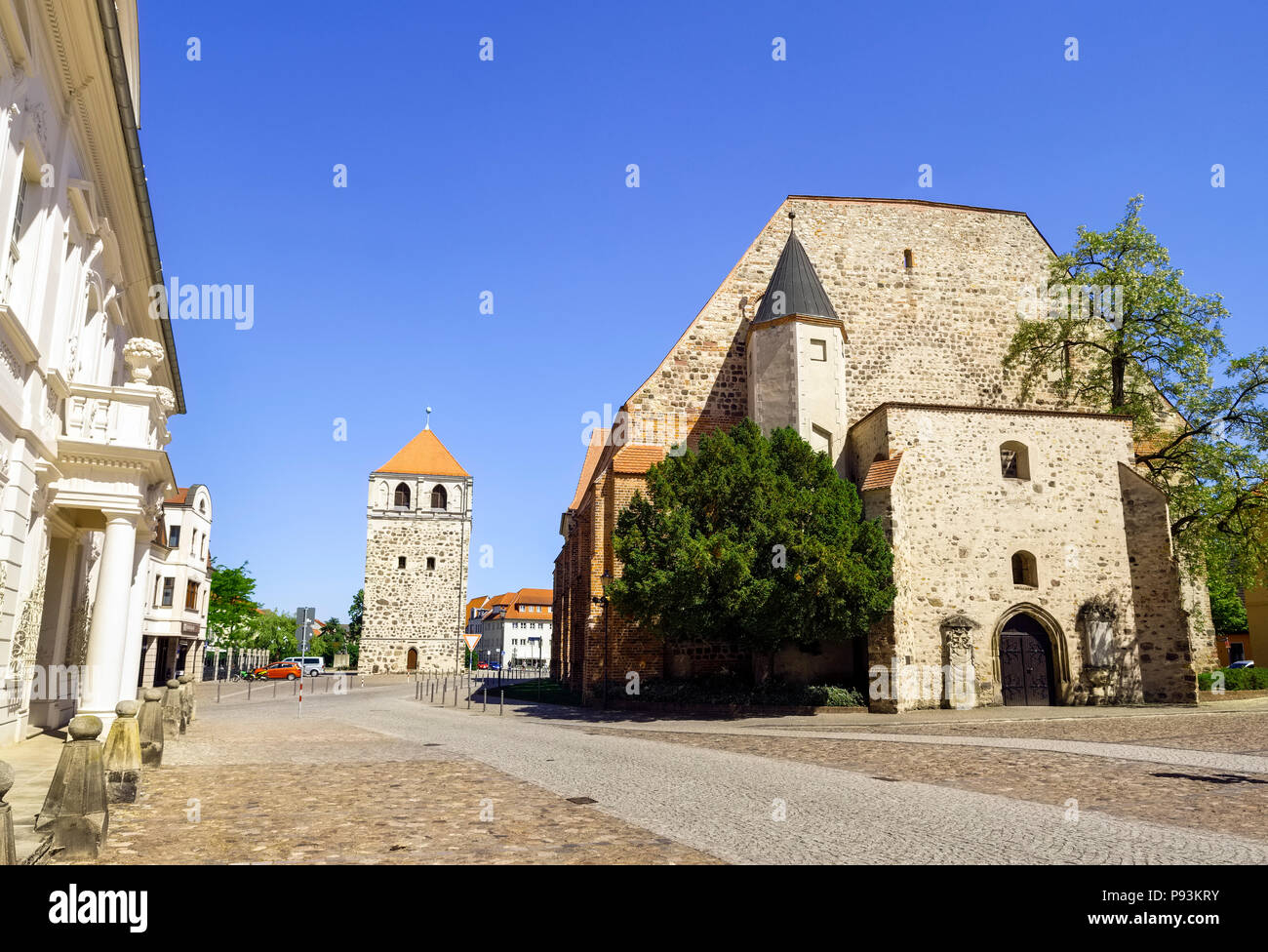 St.-Bartholomäi Church, Zerbst/Anhalt, Saxony-Anhalt, Germany Stock Photo