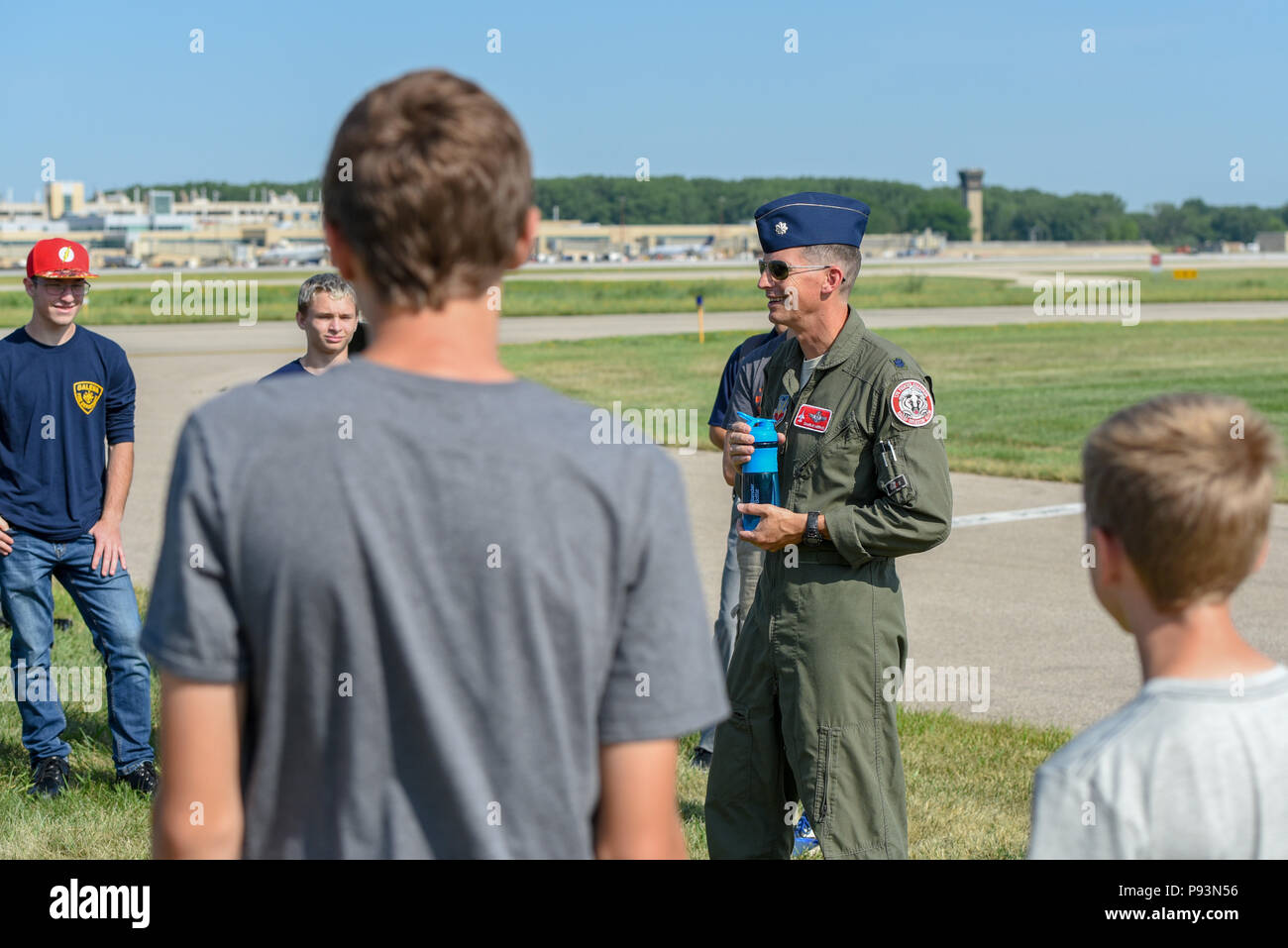Lt  Col  Charlie Merkel, an F-16 Fighting Falcon pilot with
