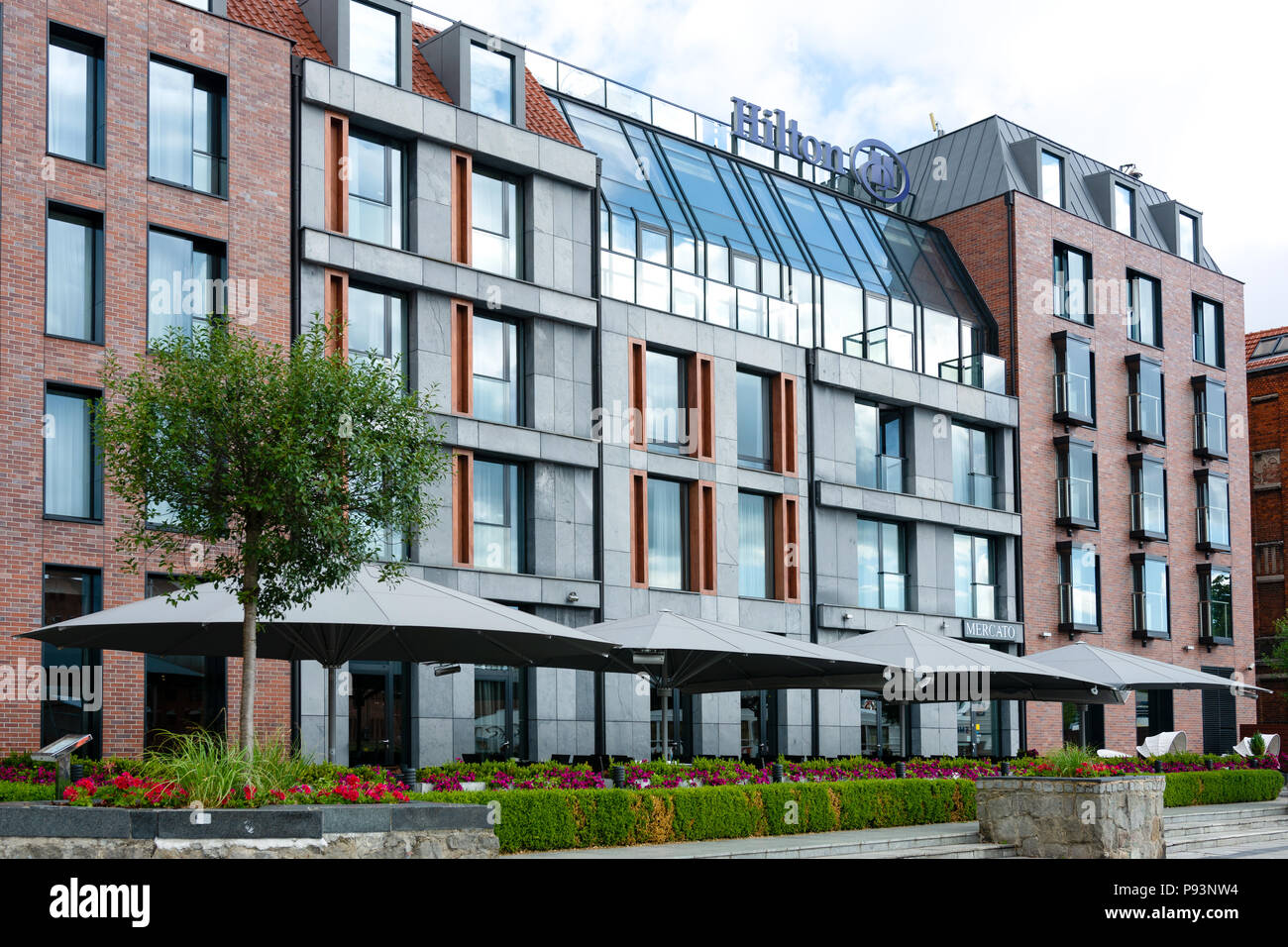 Gdansk Poland June 26 2018 Exterior View Of Luxury 5 Stars