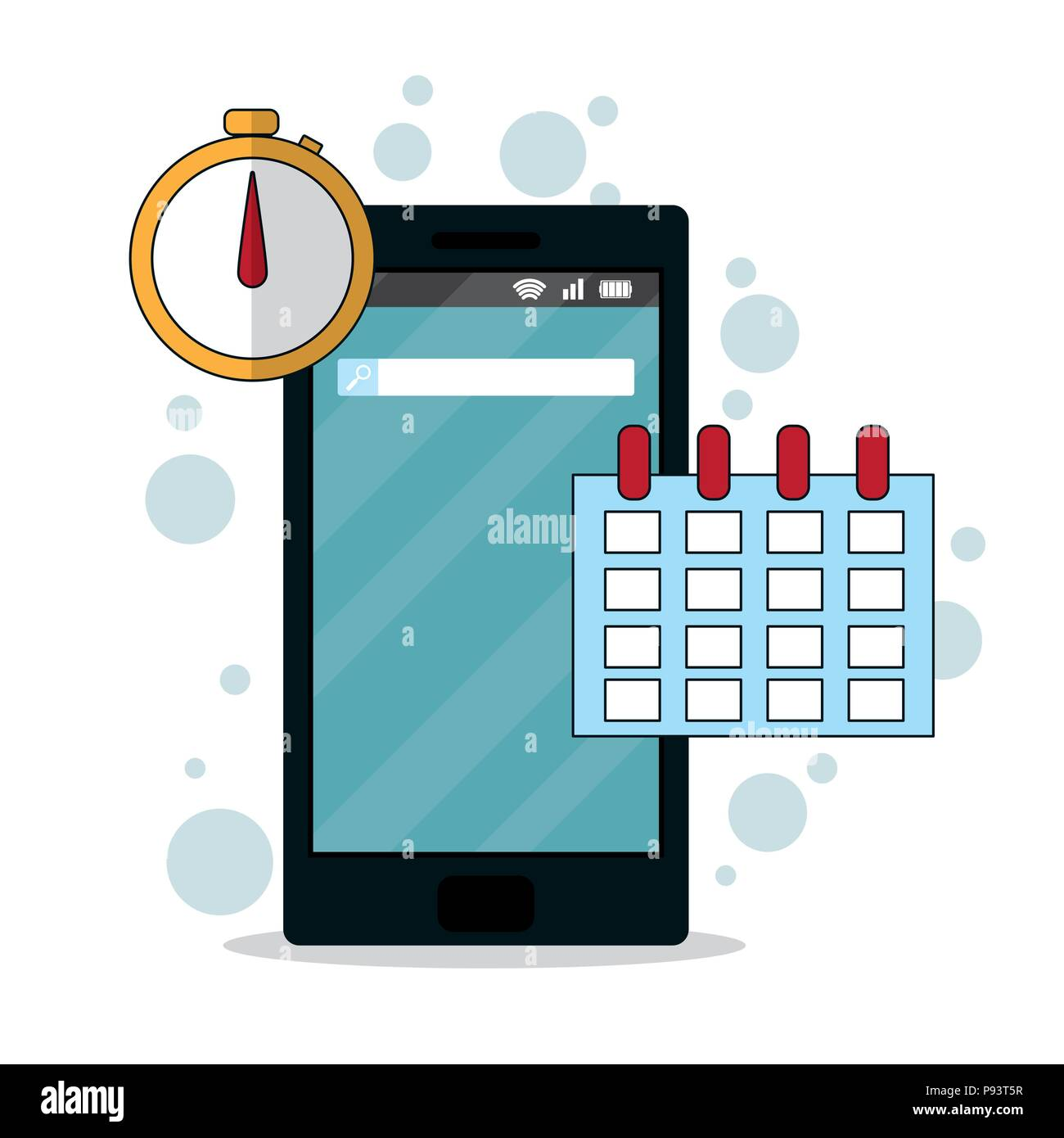 Smartphone mobile applications - Stock Image