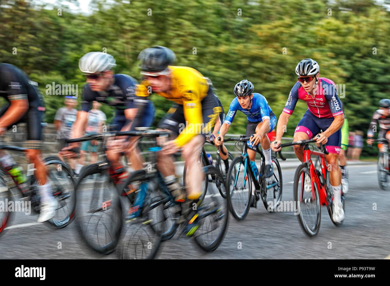 Otley Cycle Race 2018 Stock Photo