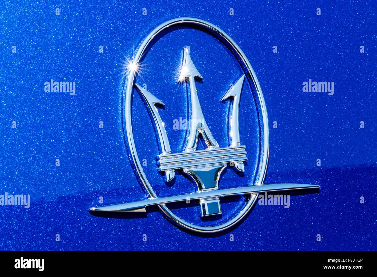 Indianapolis Circa July 2018 Maserati Trident Logo Maserati Is A
