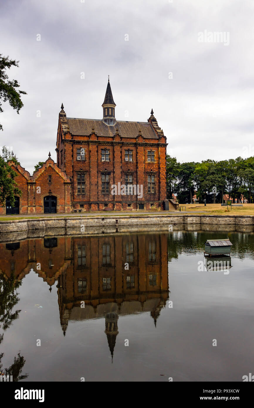 External view of the Ryhope Engines Museum a Grade 2* listed former steam powered water pumping station  built in 1868 to supply water to Sunderland Stock Photo